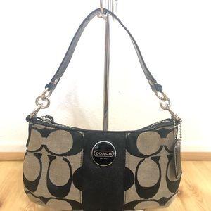 COACH Signature Shoulder Bag Mini Hobo